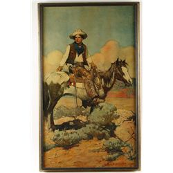 Print on canvas by Frank Schoonover
