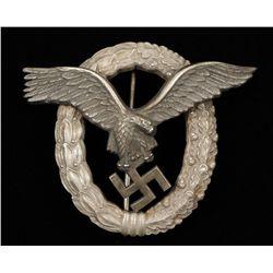 German WWII Luftwaffe Pilot Badge