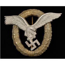 German WWII Luftwaffe Pilot Observer Badge