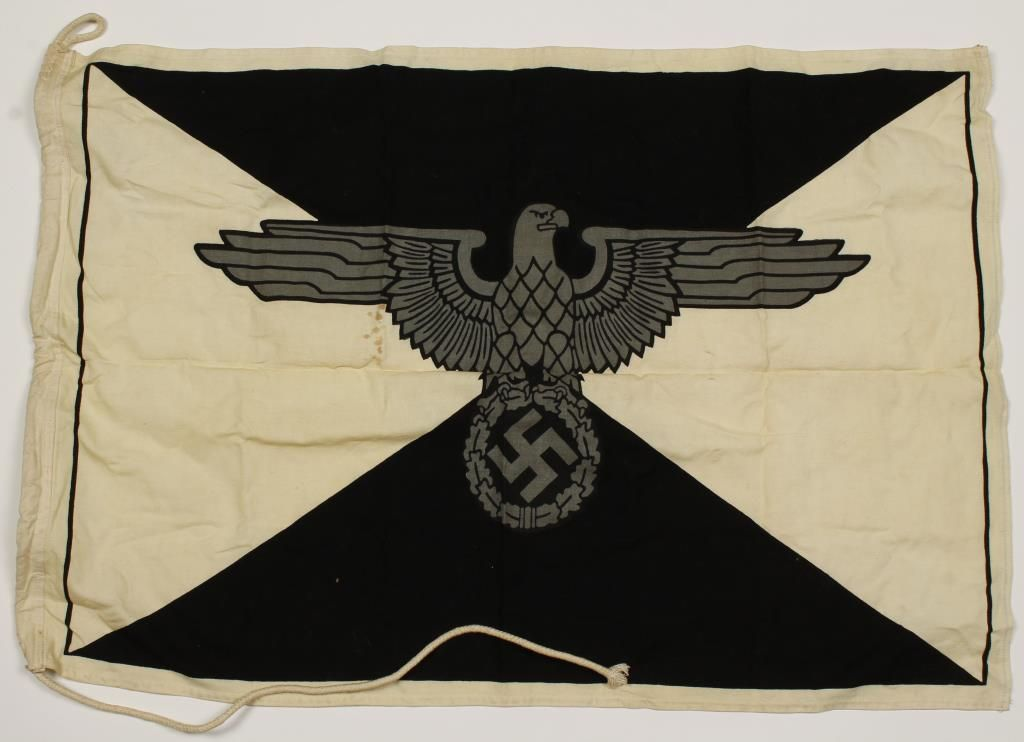 German WWII Waffen SS Barracks Flag