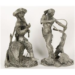 Set of Pewter Statues by Jim Ponter
