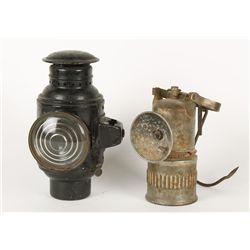 (2) Carbide Lamps