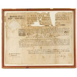 Original Military Commission Dated 1745
