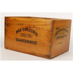 Lidless Wooden Dynamite Box
