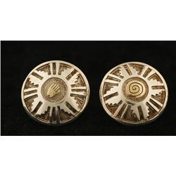 Intricate Concho-Style Earrings by Arland F. Ben