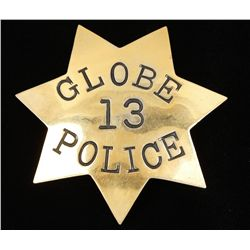 Vintage Globe AZ #13 Police Law Badge