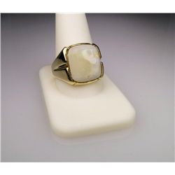 Men's Bold Vintage Opal Ring