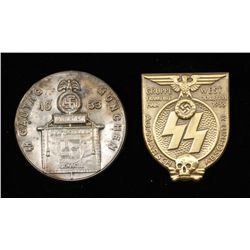 German WWII Waffen SS 1933 Frankfurt Tinnie Badge