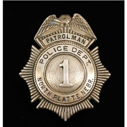Vintage North Platte NE Police Department #1 Badge
