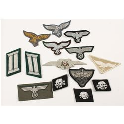 German WWII Army-Luftwaffe-SS Insignia Grouping