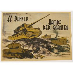 German WWII Waffen SS Panzer Tank Recruit Poster