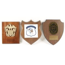 Lot of 3 Ships Plaques