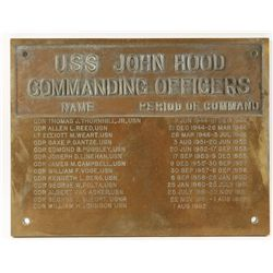 Large Ships Plaque from the USS John Hood