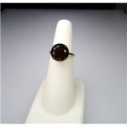 Vintage Ring with 6.00 Carat Red Stone