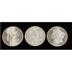 Lot of 3 Coins. 1881 S, 1886 & 1886