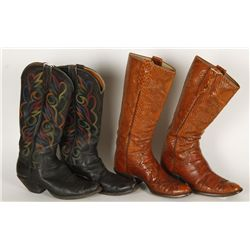 Lot of (2) Paul Bond Cowboy Boots