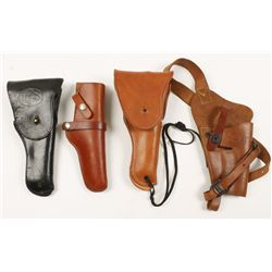 Lot of 4 Leather Holsters