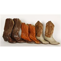 Lot of (3) Tony Lama Cowboy Boots