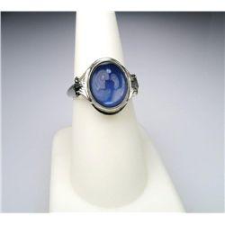 Alluring Blue Star Quartz Ring
