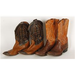 Lot of (2) Justin & Sanders Cowboy Boots