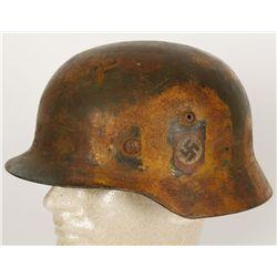 German WWII Waffen SS m-35 Camouflage Helmet