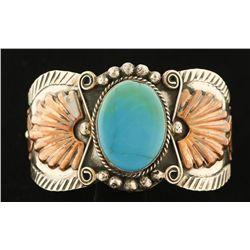 Albert Cleveland Copper, Silver, & Turquoise Cuff