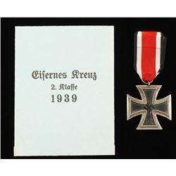 German WWII 2nd Class Iron Cross With Presentation
