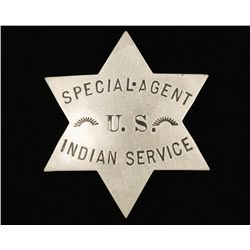 Old West Special Agent US Indian Service Badge