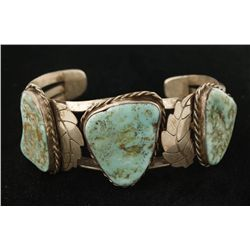 Old Pawn 3 Stone Turquoise Cuff