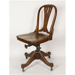 Oak Antique Office Chair