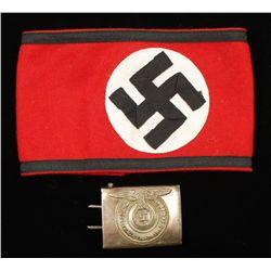 German WWII Waffen SS Swastika Arm Band