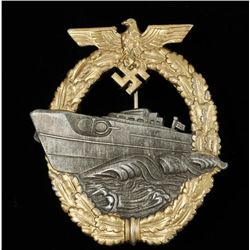 German WWII Naval 1st Model E Boat Badge