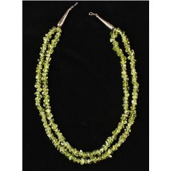 Two Strand Peridot Necklace