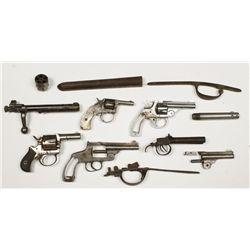 Box lot of Parts Guns