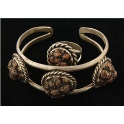 Unique Native American Bracelet and Ring set