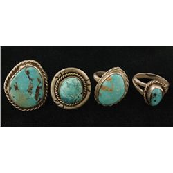 Lot of 4 Turquoise Ring