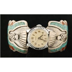 Ladies Wristwatch Cuff Bracelet