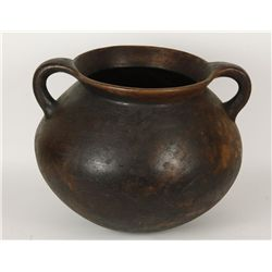 Large Double Handled Clay Pot