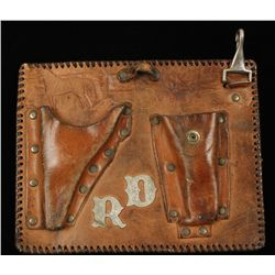 Old West Cowboy Era Leather Pistol Holder
