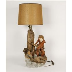APSIT Bros of California 1981 Mountain Man Lamp
