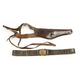 Leather Shoulder Holster and Belt