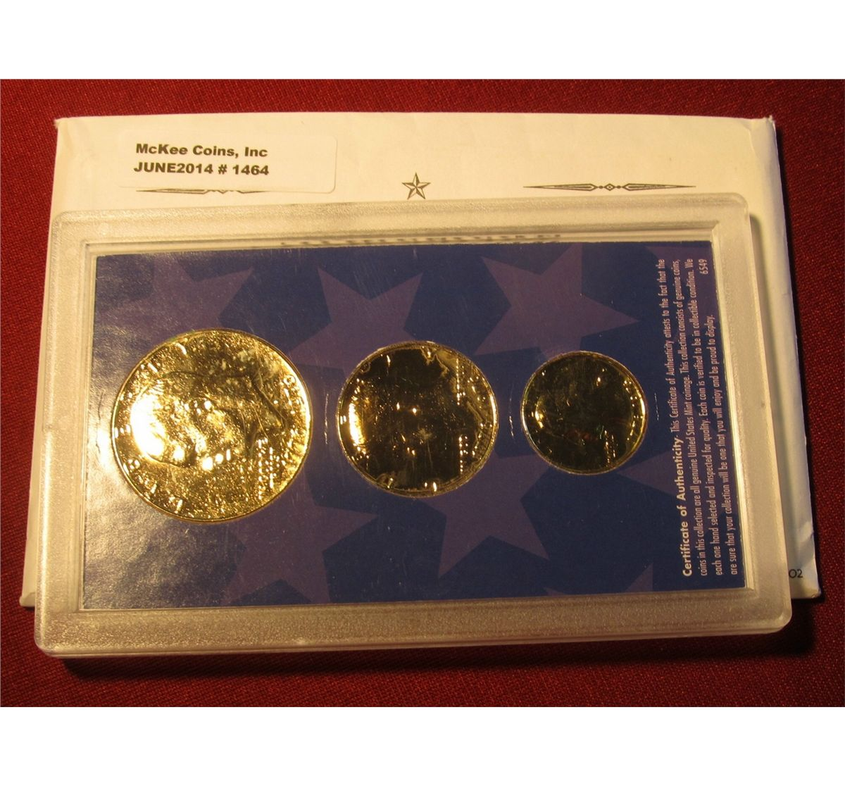 Bicentennial 1976 Quarters US Coins 24K GOLD PLATED w//Capsules /& COA *Lot of 3*