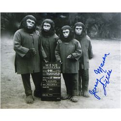 Jerry Maren & Felix Silla Signed Wardrobe Test Photo from Battle for the Planet of the Apes