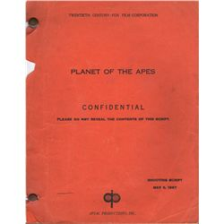 Vintage Planet of the Apes Production-used Shooting Script