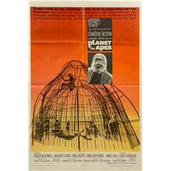 Vintage 1968 Planet of the Apes 1-sheet Poster