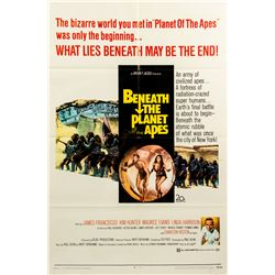 Vintage 1970 Beneath the Planet of the Apes 1-sheet Poster