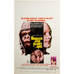 Vintage Beneath the Planet of the Apes Window Card