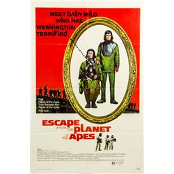 Vintage 1971 Escape from the Planet of the Apes 1-sheet Poster