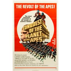 Vintage 1972 Conquest of the Planet of the Apes 1-sheet Poster