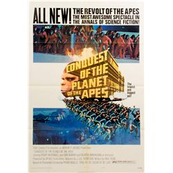 Vintage 1972 Conquest of the Planet of the Apes Style B 1-sheet Poster